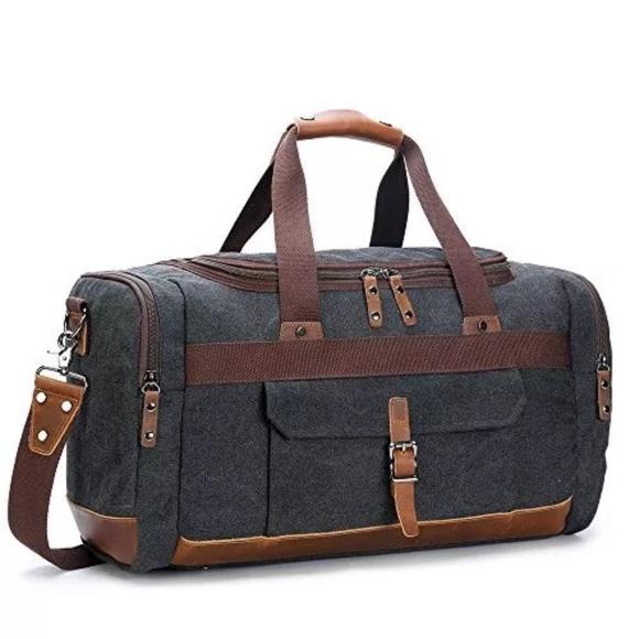 BLUBOON Bags   Overnight Bag Canvas Vintage Travel   Poshmark 76bae133ab